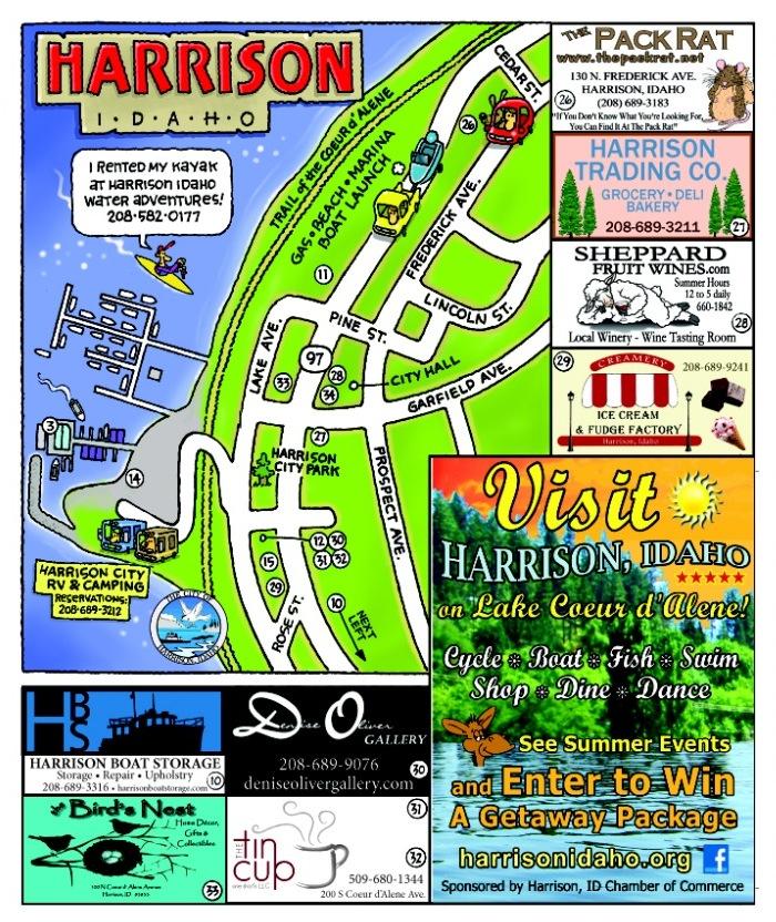 Harrison-Idaho-Map Fun Map