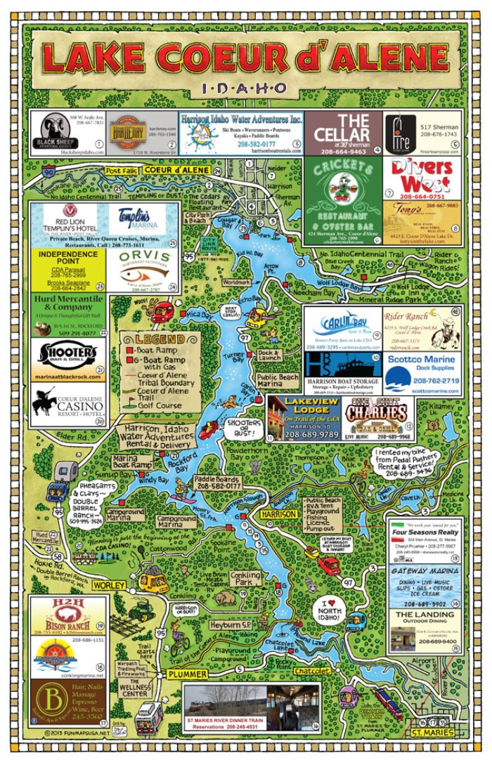 Lake-Coeur-d-Alene-Fun-Map Fun Map