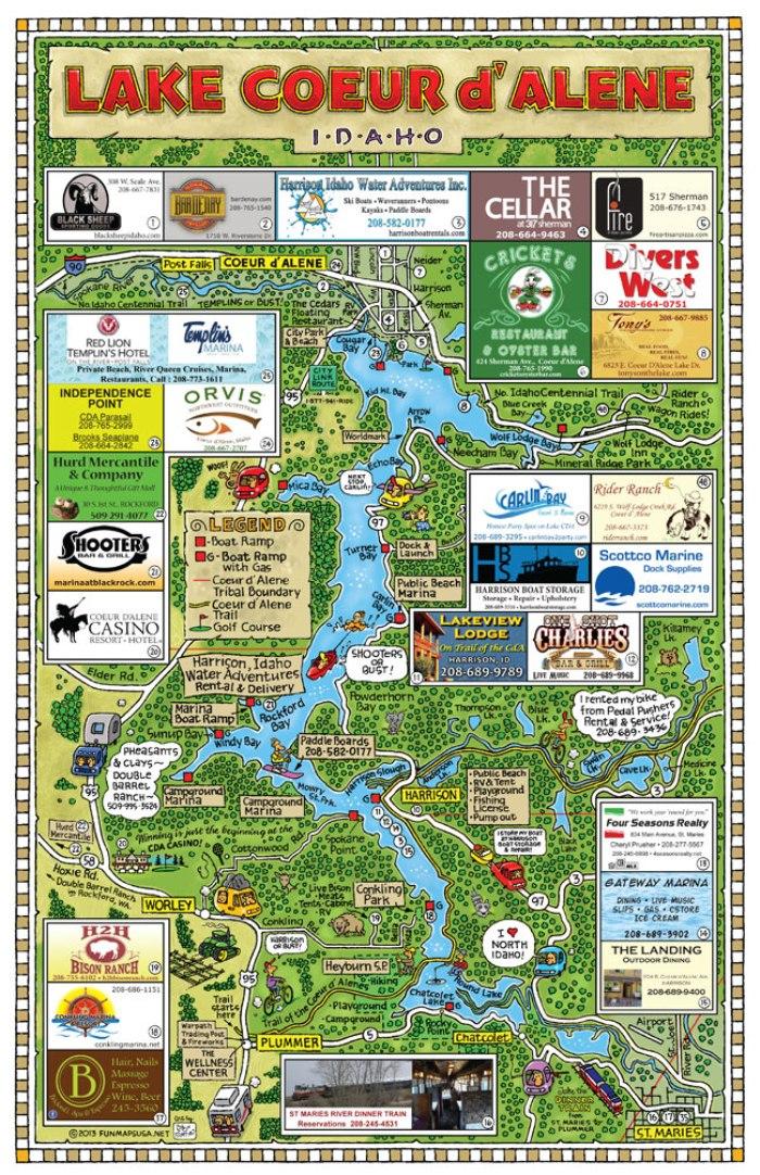 Lake-Coeur-d-Alene-Fun-Map Fun Map