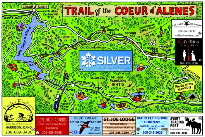 Trail-of-the-Coeur-d-alenes-Map Fun Map